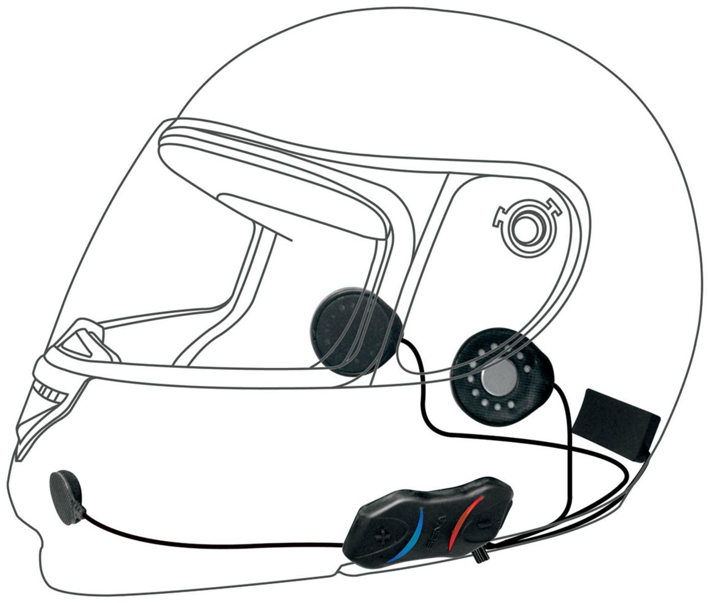 Sena Smh 10r Motorcycle Helmet Low Profile Bluetooth